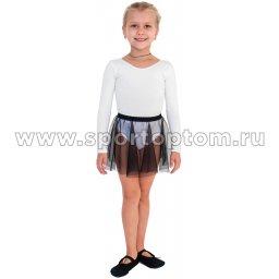 Юбочка гимнастическая сетка INDIGO SM-081 Черный (1)