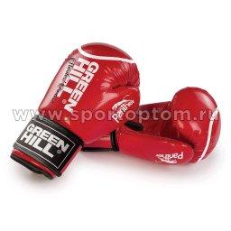 Перчатки боксёрские Green Hill PANTHER PU 2t c 3D фактурой   BGP-2098 10 унций Красный