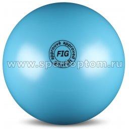 Мяч для художественной гимнастики силикон FIG Металлик 420 г AB2801 19 см Голубой