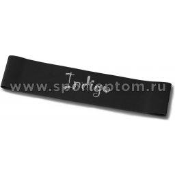 Эспандер Лента латекс замкнутая INDIGO SUPER HEAVY (20-32 кг) 6004-4 HKRB 46*5*0.12cм Черный