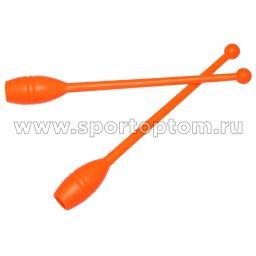Булавы для художественной гимнастики У714 35 см Оранжевый
