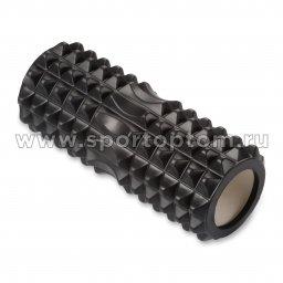 Ролик массажный для йоги INDIGO PVC IN267 черный (1)