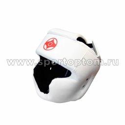 Шлем карате тренировочный закрытый LEOSPORT и/к LR-02 L Белый