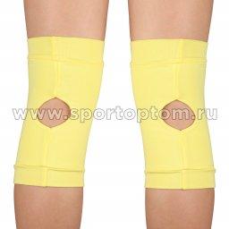 Наколенник для гимнастики и танцев INDIGO SM-113 Желтый (3)