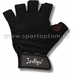 Перчатки для фитнеса INDIGO с узким напульсником и/замша,эластан,неопрен SB-16-1575 L Черный