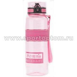 Бутылка для воды с нескользящей вставкой, мерной шкалой UZSPACE 1000мл тритан 5031 Розовый