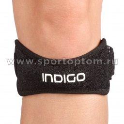 Суппорт колена( ремень) неопреновый INDIGO IN196 Универсальный Черный