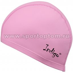 Шапочка для плавания  ткань прорезиненная с PU пропиткой INDIGO IN048 Розовый