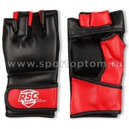 Перчатки ММА RSC  PU  BF-MM-4001 L Красно-черный