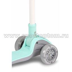 IN244 Самокат детский INDIGO FAST трехколесный до 50 кг Бирюзовый (4)