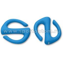 Гантели обливные с неопреновым покрытием S-образные INDIGO IN133 1 кг*2шт Голубой