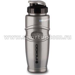 Бутылка для воды INDIGO LADOGA Термо  IN010 425 мл Серый