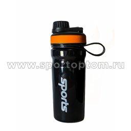 Бутылка для воды   YY-106 600 мл Черно-оранжевый