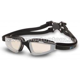 Очки для плавания детские INDIGO GRAPES зеркальные  S977M Черный