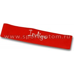 Эспандер Лента латекс замкнутая INDIGO MEDIUM  6004-2 HKRB 46*5*0.05см Красный