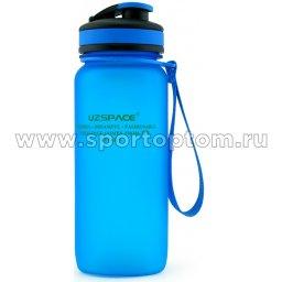 Бутылка для воды с сеточкой и мерной шкалой UZSPACE 650мл тритан 3030 Синий матовый (1)