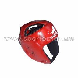 Шлем боксёрский боевой LEOSPORT и/к  LR-04 Красный