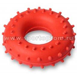 Эспандер кистевой кольцо массажное 25 кг Е148 / ST004 8 см Красный
