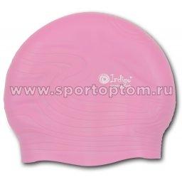 Шапочка для плавания силиконовая  INDIGO детская Волна SC305 Розовый