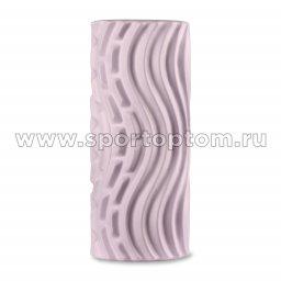 Ролик массажный для йоги INDIGO PVC Волна IN275 сиреневый (2)