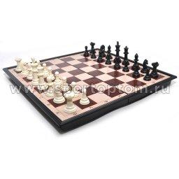 Игра 2 в 1 магнитная (шахматы, шашки) 3133 33*33 см