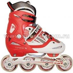 Роликовые коньки раздвижные  F1-V2 Красно-белый