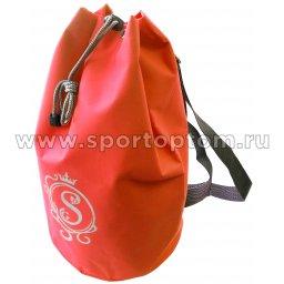 Рюкзак для художественной гимнастики универсальный вензель GPS00051 40*22*22 см Оранжевый