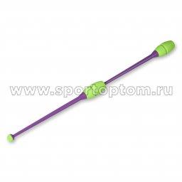 Булавы для художественной гимнастики вставляющиеся INDIGO Фиолетово-салатовый (2)