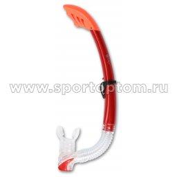 Трубка  для плавания  INDIGO взрослая с  маскодержателем IN062 Красный