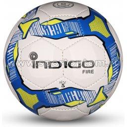 Мяч футбольный №5 INDIGO FIRE Облегченный тренировочный (PU SEMI) IN026 Бело-сине-желтый