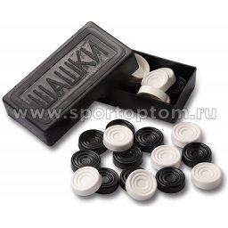 Шашки пластиковые без доски в коробке SM-171         Черный