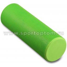 Ролик массажный для йоги INDIGO Foam roll  IN021 45*15 см Зеленый