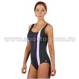Купальник для плавания SHEPA совместный женский со вставками 047 Серый (3)