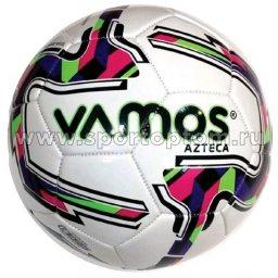 Мяч футбольный №4  VAMOS AZTECA тренировочный (термопластичн.PU) BV 3068-AMI Бело-зелено-розовый