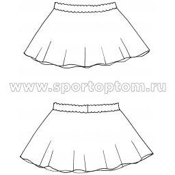 Юбочка гимнастическая сетка INDIGO SM-080 Белый (3)