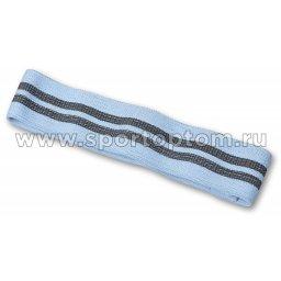 Эспандер Лента тканевая замкнутая INDIGO MEDIUM (55-68 кг) IN191 8*38 см Голубой