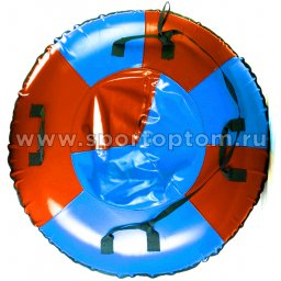 Санки Ватрушка Мега (армированный тент 600 ) SM-245 105 см Сине-красный