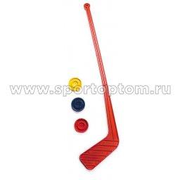 Клюшка хоккейная 1+3 шайбы, детский набор (пластм) SM-039