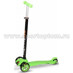 Самокат детский 3-колесный до 30 кг, колёса 120/76 мм GS-002D1A Зеленый