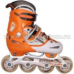 Роликовые коньки раздвижные  F1-V2 34-37 Оранжево-белый