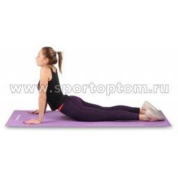 Коврик для йоги и фитнеса INDIGO PVC с рисунком Цветы YG03P Цикламеновый (6)