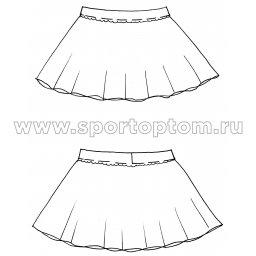 Юбочка гимнастическая лукра INDIGO SM-079 Черный (3)