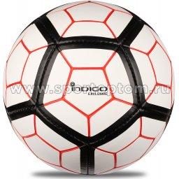 Мяч футбольный №5 INDIGO EXCLUSIVE тренировочный (PU SEMI) FG 5 Бело-черный