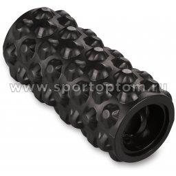 Ролик массажный для йоги INDIGO вибрационный, USB IN099 33*14 см Черный