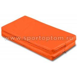 Мат гимнастический складной SM-108  Оранжевый (2)