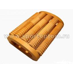 Массажер деревянный для спины Счеты комбинированный МА4301