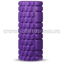 Ролик массажный для йоги INDIGO фиолетовый (1)