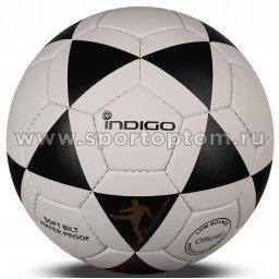 Мяч футбольный Футзал №4 INDIGO MAMBO CLASSIC тренировочный 1164 SALA Черно-белый