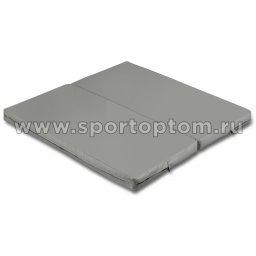 Мат гимнастический складной SM-108  Серый металлик (1)