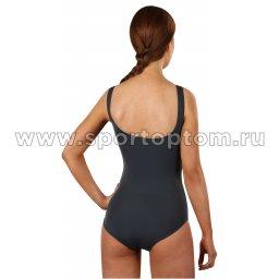 Купальник для плавания SHEPA совместный женский со вставками 047 Серый (2)